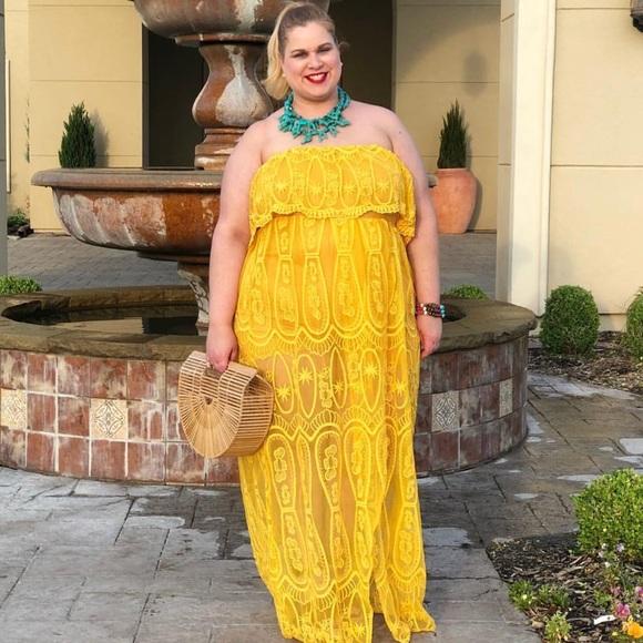 52e14cb9fd2e Fashion Nova Dresses   Skirts - Gorgeous golden yellow strapless dress!